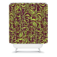 Wagner Campelo Polyester Abstract Garden Shower Curtain