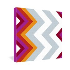 Karen Harris Modernity Solstice Warm Chevron Gallery Wrapped Canvas