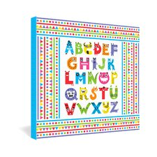 Andi Bird Alphabet Monsters Gallery Wrapped Canvas