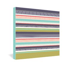 Wendy Kendall Multi Stripe Canvas Wall Art