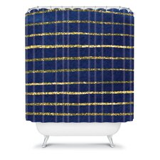 Social Proper Polyester Nautical Sparkle Shower Curtain