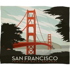 Anderson Design Group San Francisco Polyester Fleece  Throw Blanket