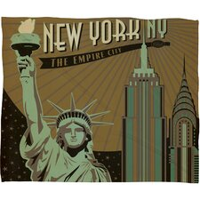 Anderson Design Group New York Polyester Fleece  Throw Blanket