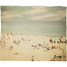 Shannon Clark Vintage Beach Polyester Fleece Throw Blanket