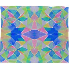 Amy Sia Chroma Blue Polyester Fleece Throw Blanket