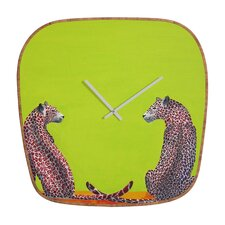 Clara Nilles Leopard Lovers Clock