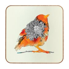 Iveta Abolina Orange Bird Wall Art