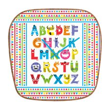 Andi Bird Alphabet Monsters Clock