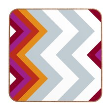 Karen Harris Modernity Solstice Warm Chevron Wall Art
