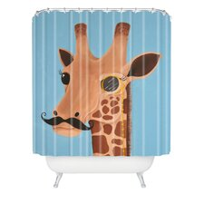 Mandy Hazell Gentleman Giraffe Woven Polyesterrr Shower Curtain