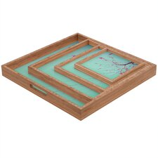 Happee Monkee Red Stars Square Tray
