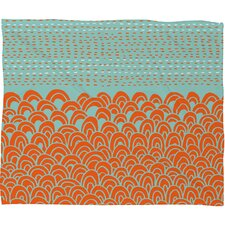 Budi Kwan The Infinite Tidal Polyesterrr Fleece Throw Blanket