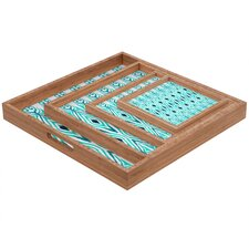 Amy Sia Ikat Jade Square Tray