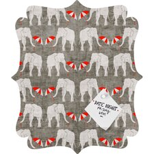 Holli Zollinger Elephant and Umbrella Quatrefoil Magnet Board