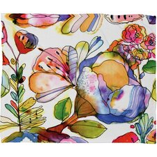 CayenaBlanca Blossom Pastel Polyesterrr Fleece Throw Blanket