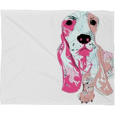 Casey Rogers Bassett Polyesterrr Fleece Throw Blanket