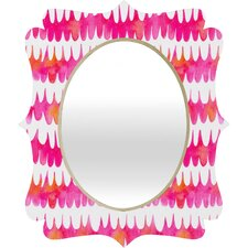 Betsy Olmsted Owl Feather Quatrefoil Mirror