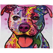 Dean Russo Cherish The Pitbull Polyesterrr Fleece Throw Blanket
