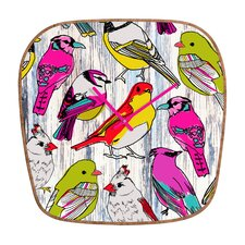 Mary Beth Freet Couture Home Birds Clock