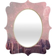 Bianca Green Stardust Covering New York Quatrefoil Mirror