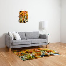 Ginette Fine Art Abstract Sunflowers Novelty Rug