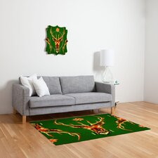 Chobopop Geometric Deer Novelty Rug
