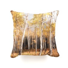 Bird Wanna Whistle Aspen Woven Polyester Throw Pillow