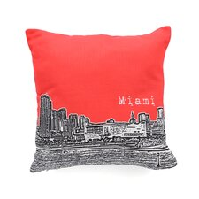 Bird Ave Miami Woven Polyester Throw Pillow