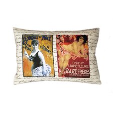 French Perfume Ads Pillow