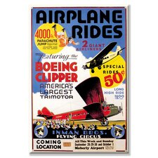 Airplane Rides: Inman Bros. Flying Circus Canvas Wall Art