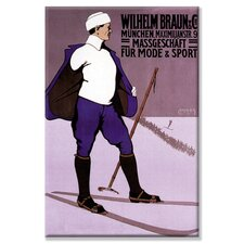 Reflective Skier in Turtleneck Canvas Wall Art