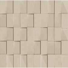 "Skyline 12"" x 12"" Glazed Porcelain Rectified Brick in Sand"