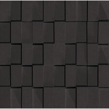 "Skyline 12"" x 12"" Glazed Porcelain Rectified Brick in Black"