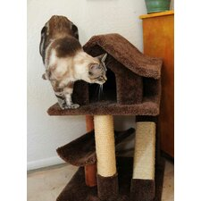 Mini Cat Pagoda with Sisal Rope Ramp