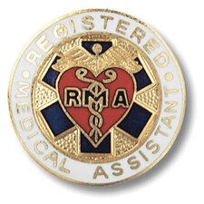 Registered Medical Assistant Emblem Pin
