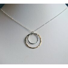 14kt Gold Fill Sterling Silver Double Ring Necklace