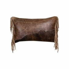 Accessory Pillows Butte Leather Flap and Butte Leather Fringe Pillow
