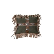 Mustang Canyon Raven Suede Pillow