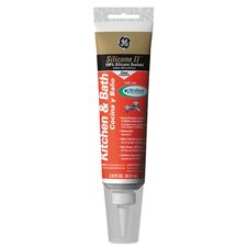 Kitchen and Bath Silicone Caulk in Clear