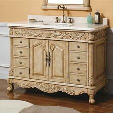 "Parchment 48"" Single Bathroom Vanity Set"
