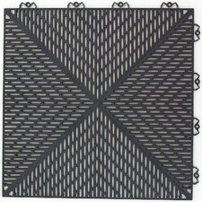 "Quick Click Polypropylene 14.88"" x 14.88"" Interlocking Deck Tiles in Graphite"