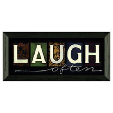 Laugh Often Art Print Wall Art