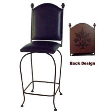 "Designer 24"" Swivel Stool with Back"