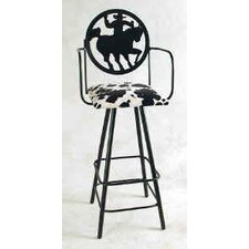 Silhouette Swivel Stool with Arms