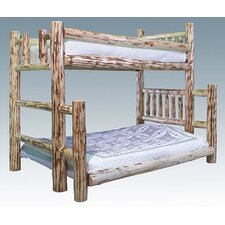 Montana Twin over Full Bunk Bed with Built-In Ladder