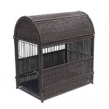 Wicker Round Top Dog House