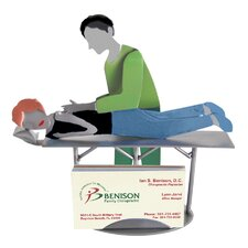 Desk Accessory Chiropractor Male Business Card Holder