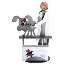 Desk Accessory Veterinarian Female Business Card Holder