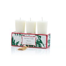 Classic Toile Holiday Votive Candle Set