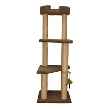 "60.5"" Three Story Cat Tree with Sky Lounger"